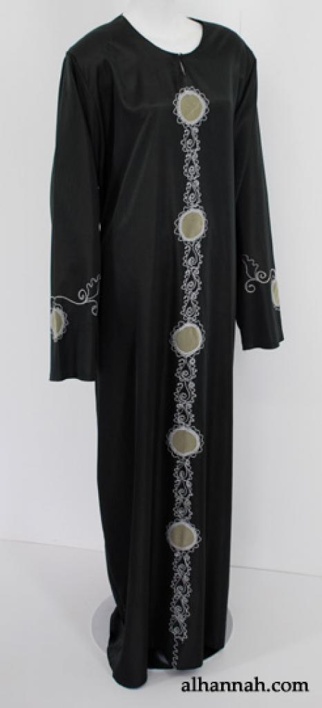 Traditionel broderet egyptisk træk Abaya ab527