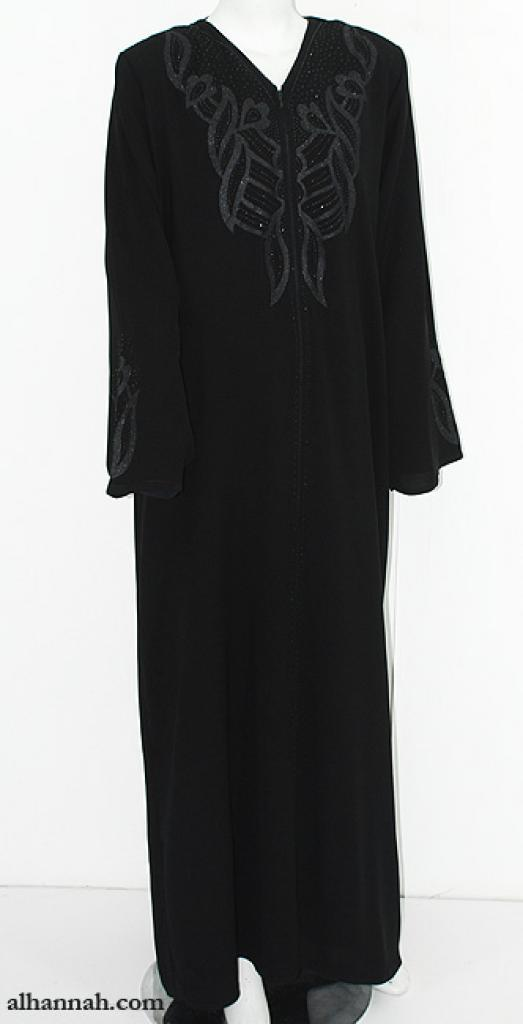 Embroidered Jordanian Abaya ab621