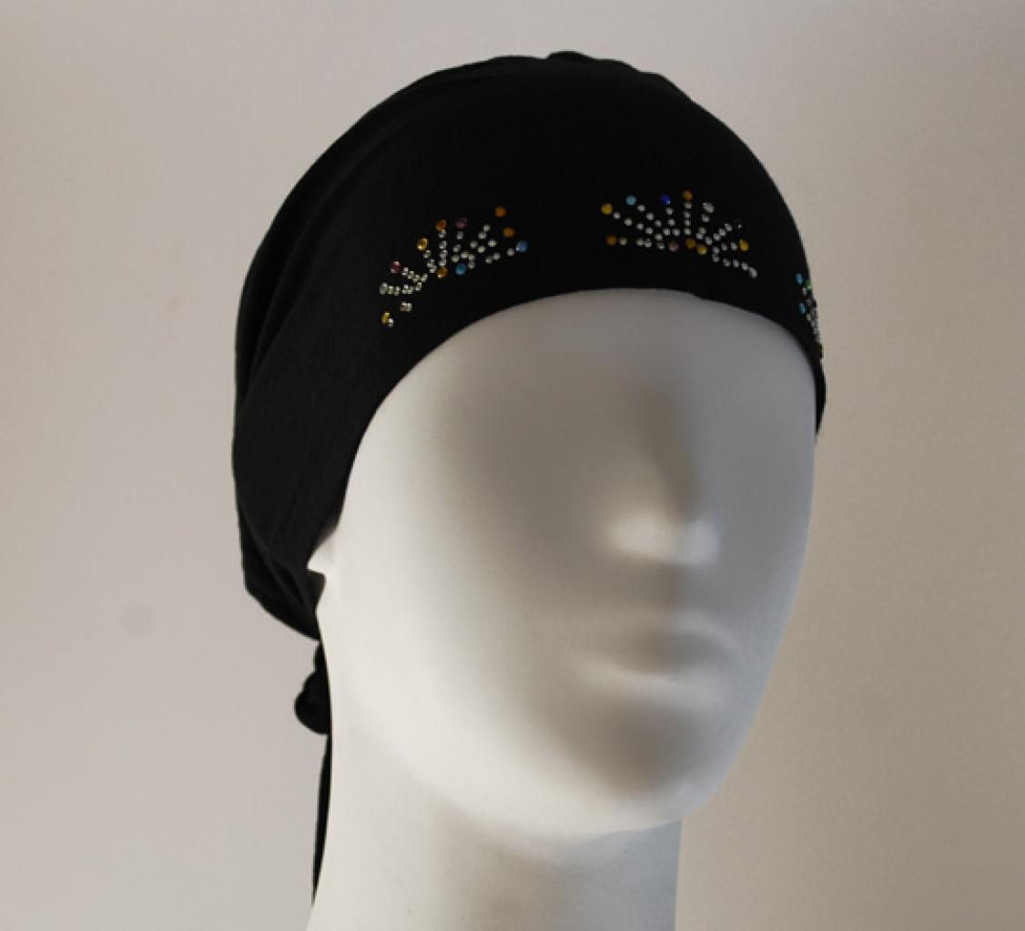 Stretch Beaded Cap Czapka z daszkiem aksamit