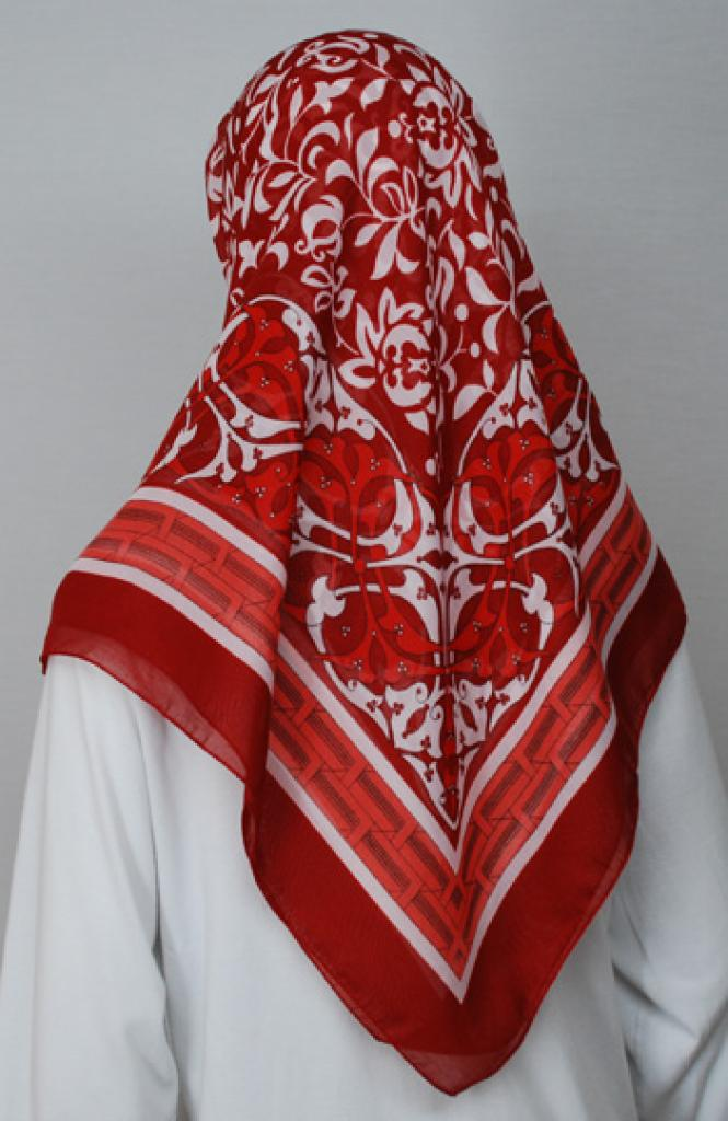Printed Cotton Square Hijab  hi1739