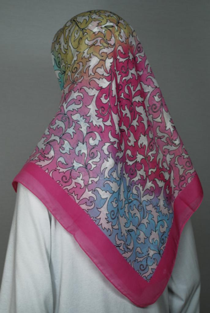 Printed Cotton Square Hijab  hi1740