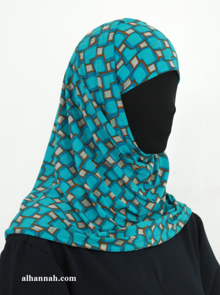 Two Piece Printed Al Amirah Hijab hi1943
