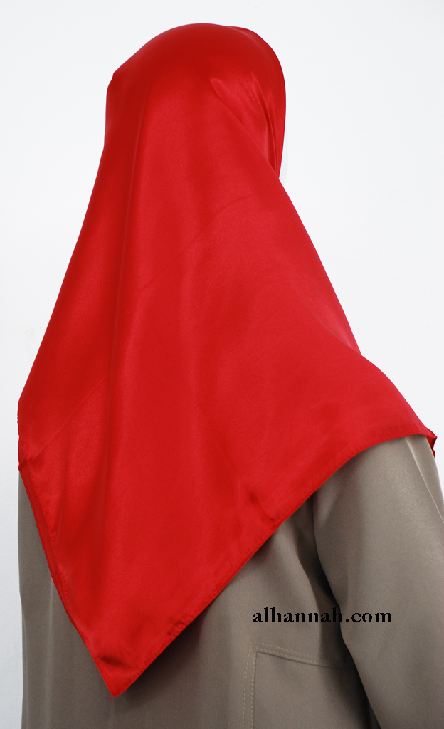Solid Color Turkish Satin Hijab hi2006