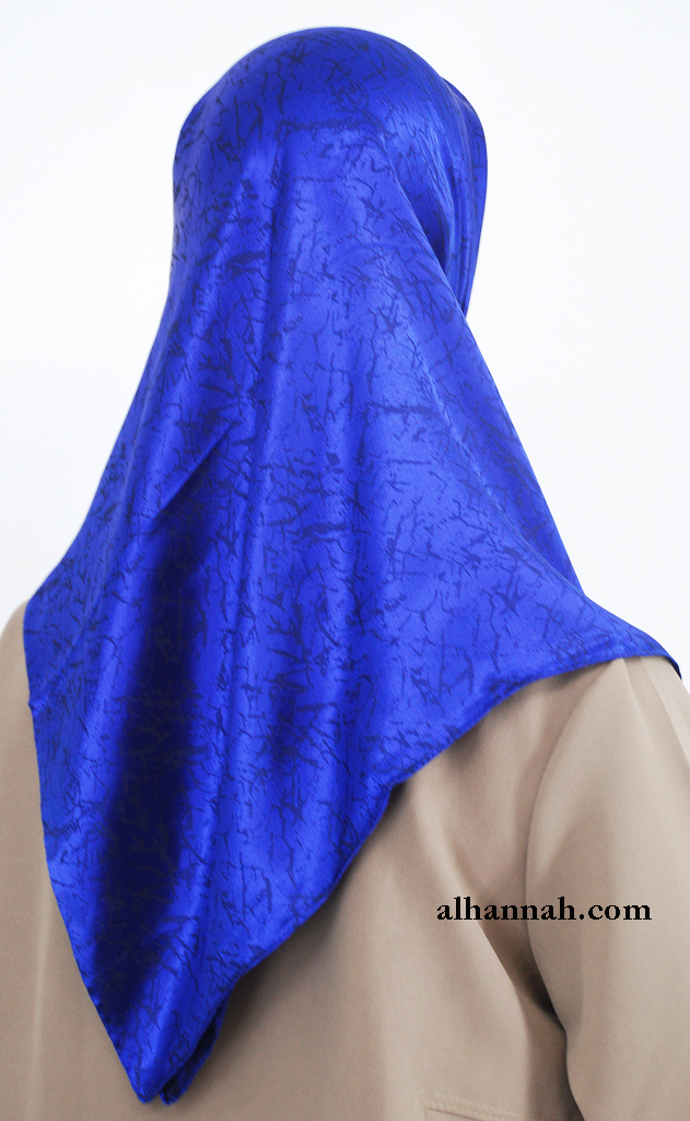 Turkish Patterned Solid Color Hijab hi2010