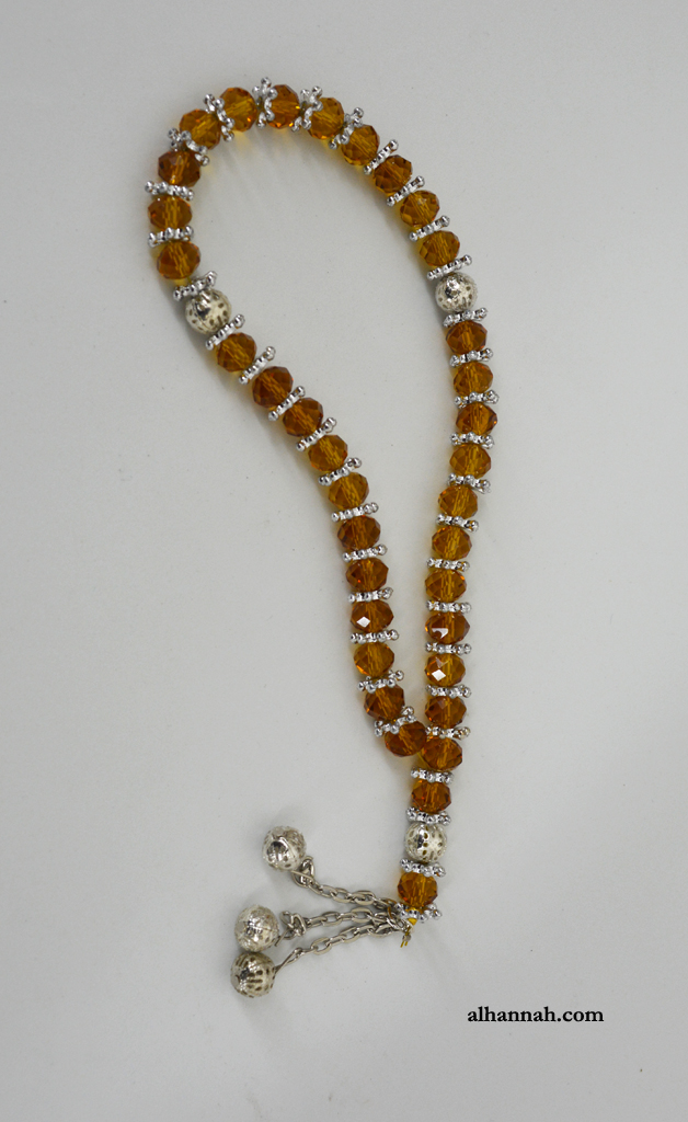Deluxe Amber Tone Prayer Beads ii1072