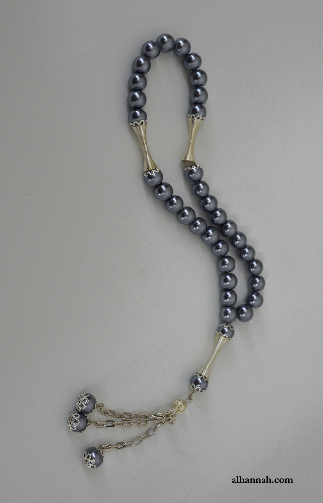 Hematite Tone Tasbih Prayer Beads  ii1080