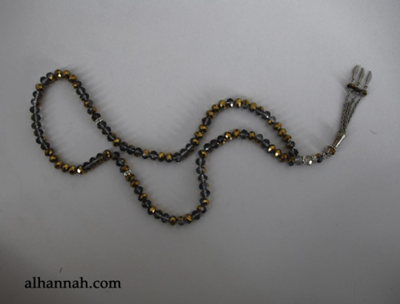 Premium Metallic Cut-Crystal Prayer Beads ii966