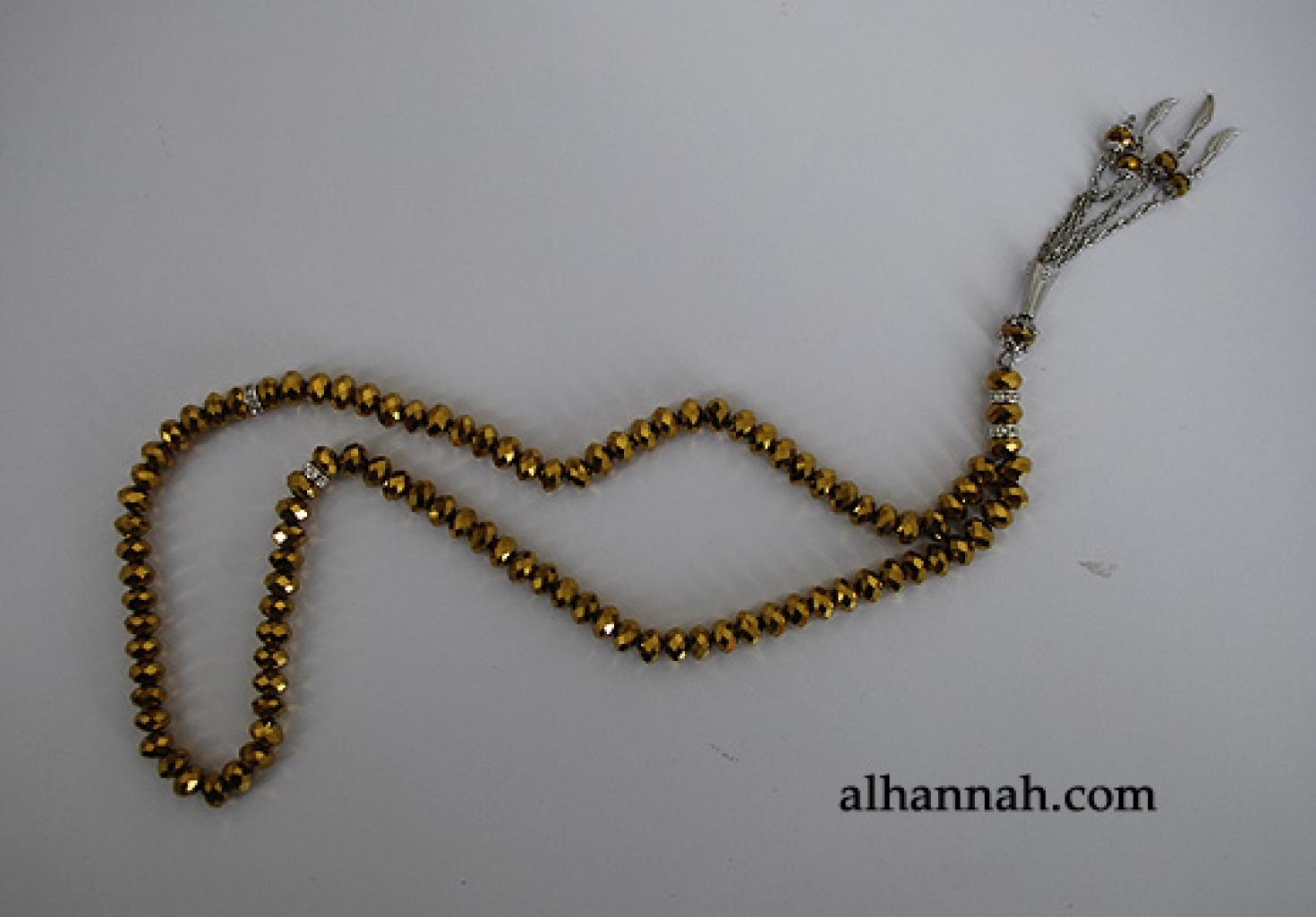 Premium Metallic Cut-Crystal Prayer Beads ii975