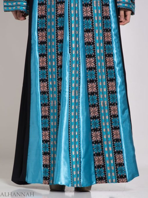 Asma Embroidered Palestinian Fellaha Thobe th768 (1)