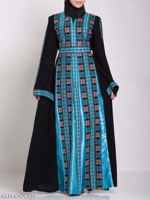Asma Embroidered Palestinian Fellaha Thobe th768 (4)