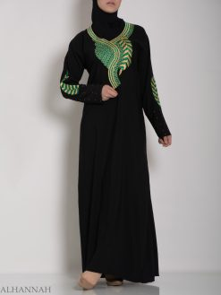Authentic Khaliji Pull Over Abaya ab577 (4)