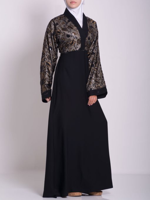 Chikan Abaya - Pull Over with Sequins ab658 (24)