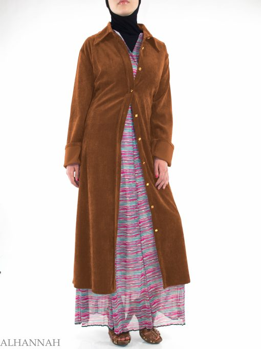 Corduroy Trench Coat ST600 (4)