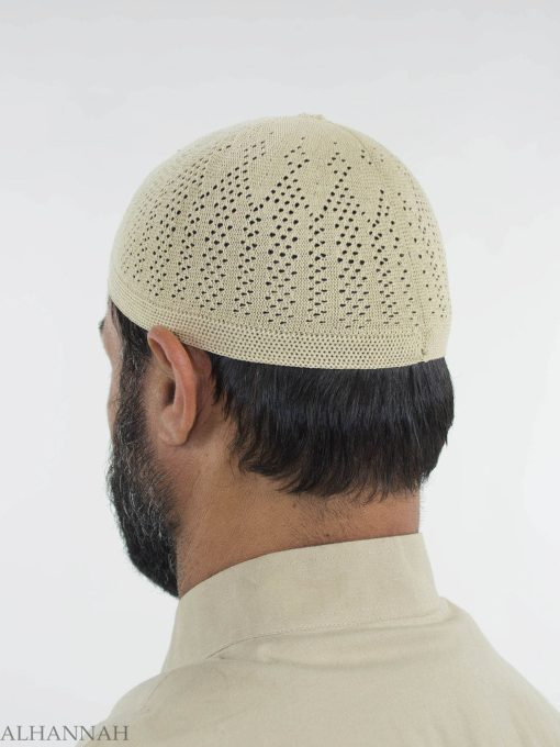 Traditional Knitted Cotton Kufi me674 (2)