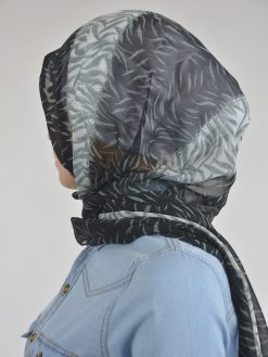 Абстрактный тигр Shayla Wrap Hijab Hi2114 Black & White