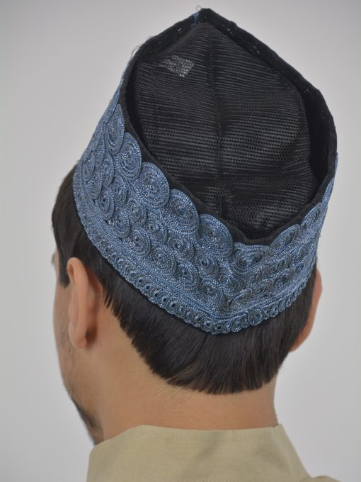 Embroidered Swirls Mesh Kufi ME739 (1)