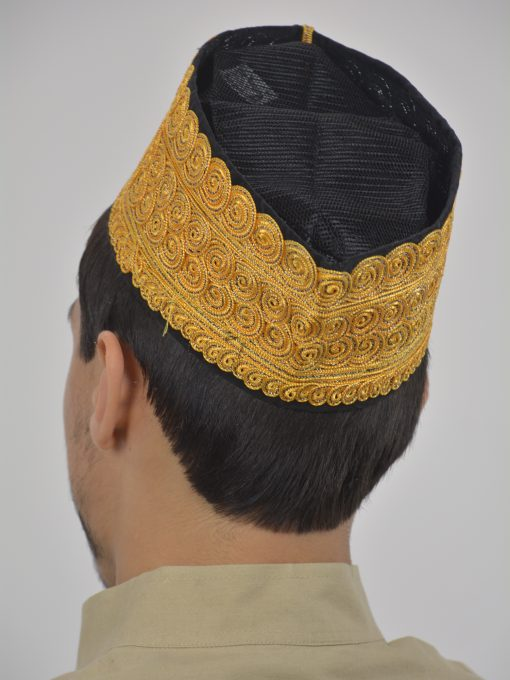 Embroidered Swirls Mesh Kufi ME739 (4)