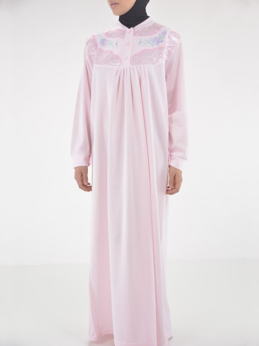 Rose Broderet Cotton Nightgown NG102 (3)