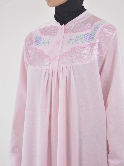 Rose Broderet Cotton Nightgown NG102 (4)