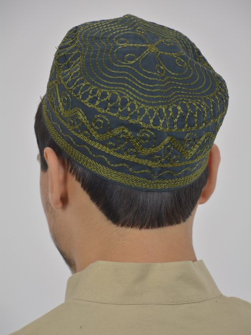 Spiraling Zigzags Embroidered Kufi ME737 (4)