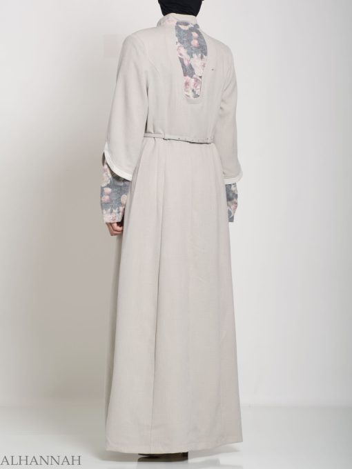Floral Tailored Button-up Jilbab ji660 (14)
