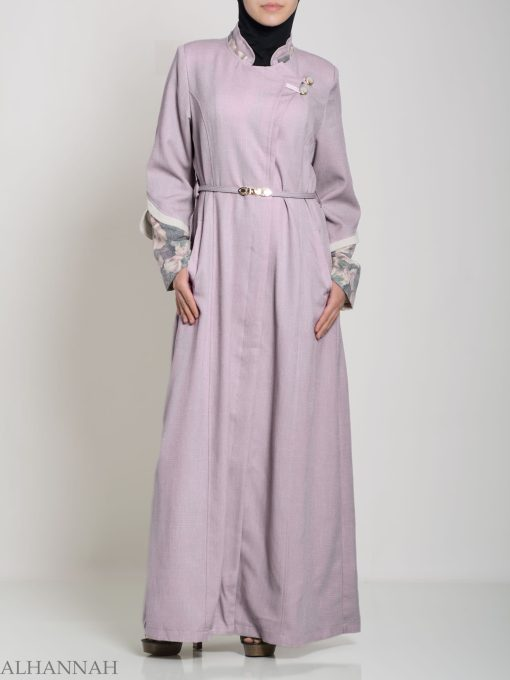Floral Tailored Button-up Jilbab ji660 (3)