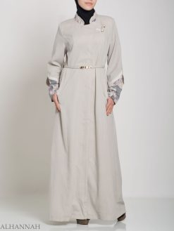 Button-up personalizzato floreale Jilbab ji660 (4)