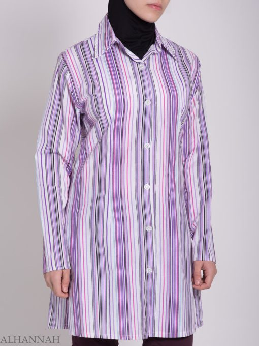 Stripete Button Up Tunika St603 (7)