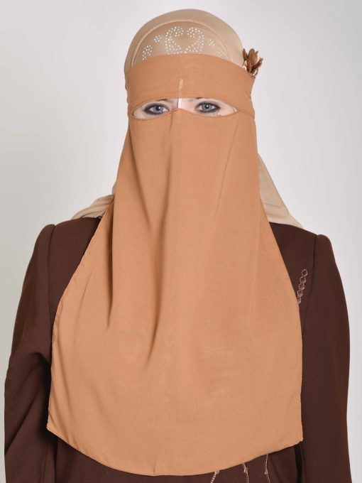 Saudi Style Solid Color One Layer Long Niqab NI158 (3)