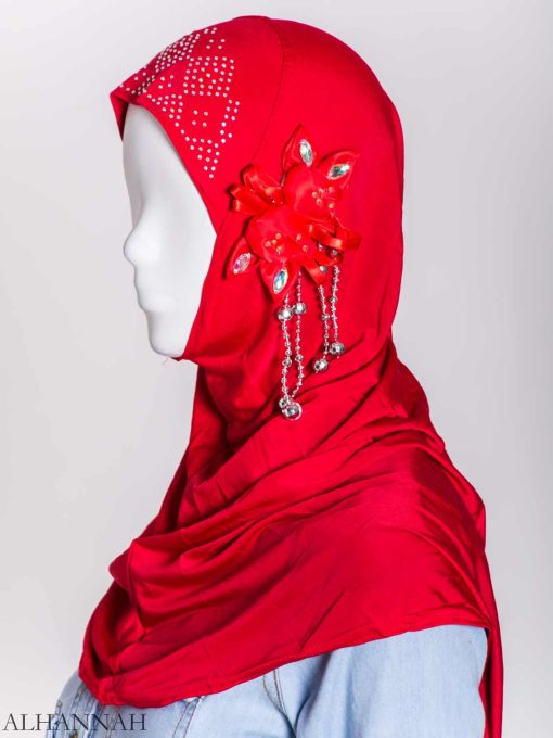 Beaded Sprouting-Flower One-Piece Al-Amira Hijab hi2160 (7)