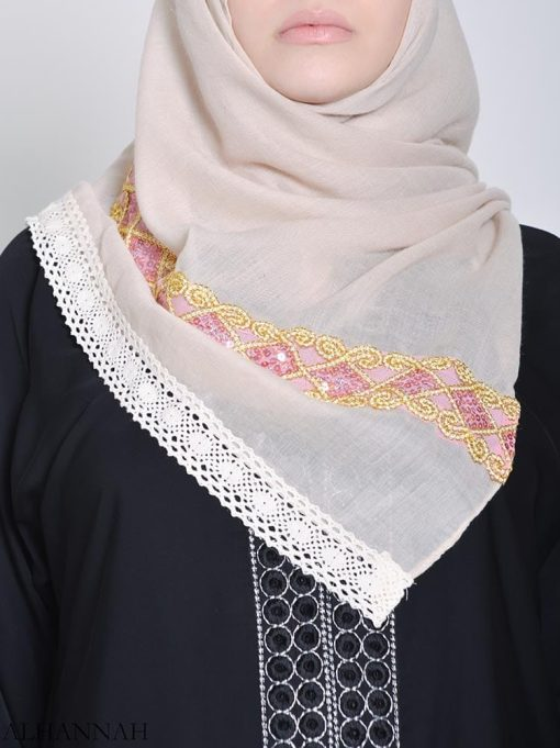 Golden Seined Sequine Hijab