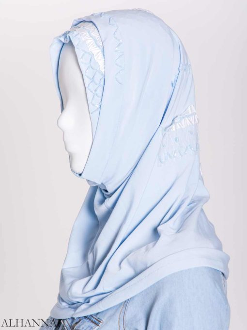 Ribboned Bugle Beaded Two-Piece Al-Amira Hijab hi2157 (7)