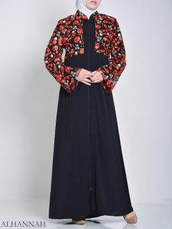 Rose Abaya bordado (2)