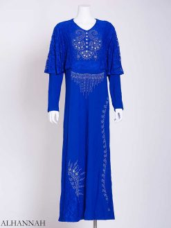 Embellished Rhinestone Laced Shoulder Abaya ab713 (1)