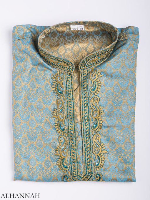 Damasco bordado Jacquard Kurta me780 (10)