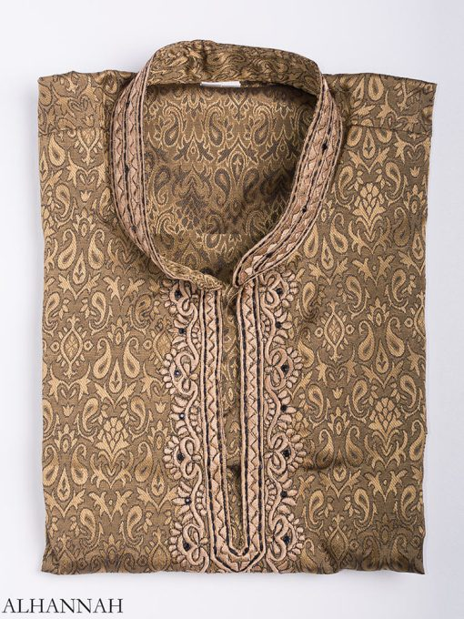 Damasco bordado Jacquard Kurta me780 (13)