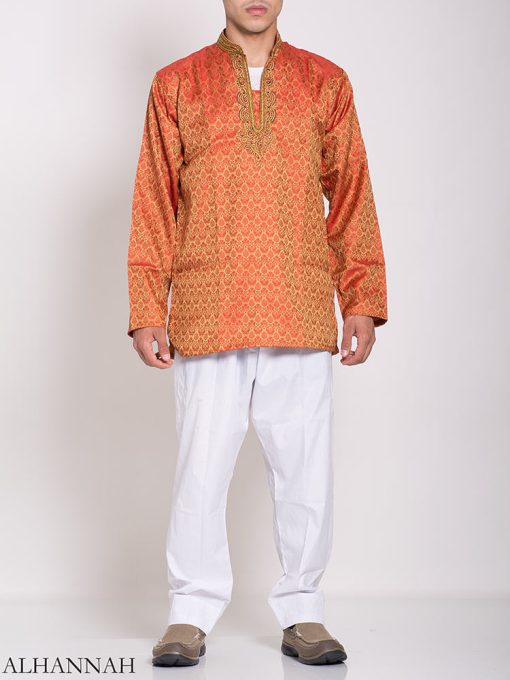 Damasco bordado Jacquard Kurta me780 (3)