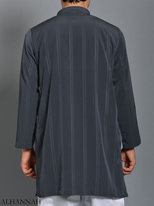 Striped Ikaf Kurta shirt me786 (1)