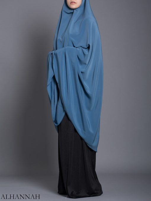 Color liso liso Khimar hi2175 largo (1)