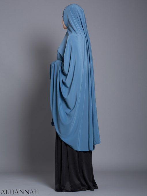 Color liso liso Khimar hi2175 largo (13)