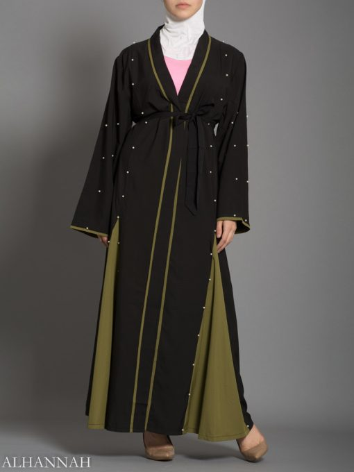 Open Abaya with Side Panels AB733