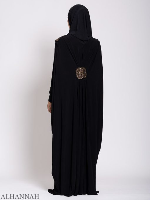 Black-Beaded-Kaftan-Abaya-Back