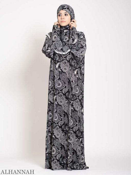 Charcoal Paisley Prayer Outfit 2