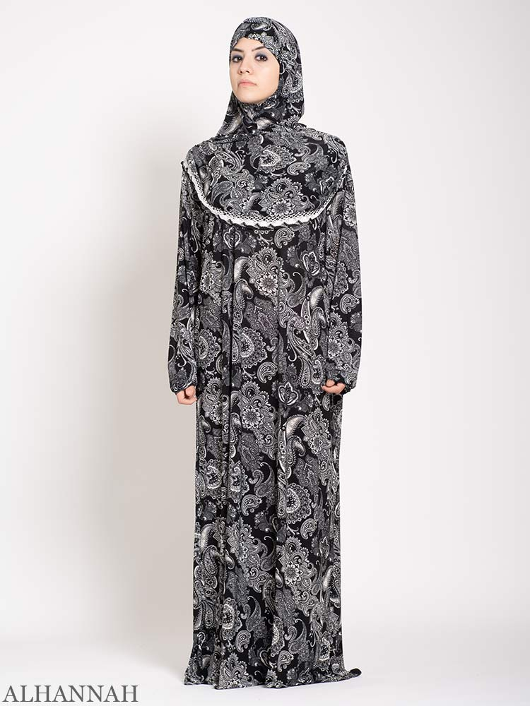 Charcoal Paisley Prayer Outfit