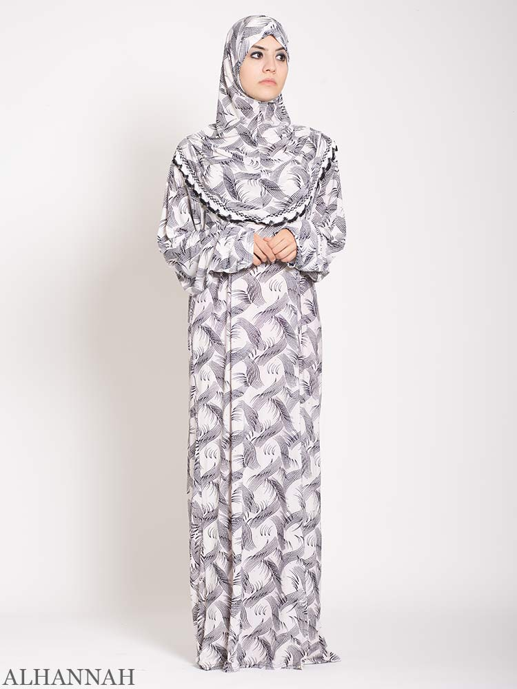 Sparkle Feather One Piece Prayer Outfit | PS520