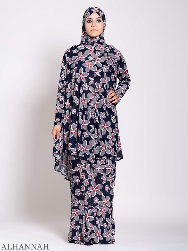 Floral Garden Two Piece Prayer Outfit | PS530