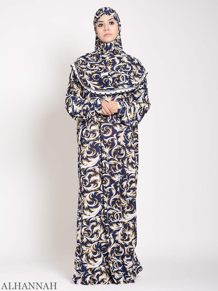 Lapis Damask One Piece Prayer Outfit | PS508