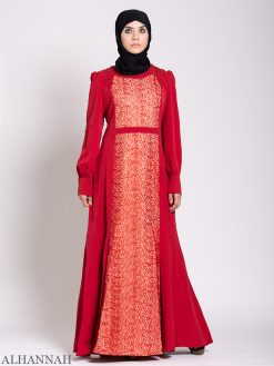 Arabesque Sequin Abaya kjole Ruby