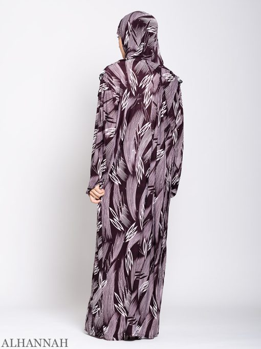 Maroon Abstract One Piece Prayer Outfit ps533 Tilbake