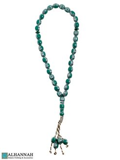 Green Tasbih beads